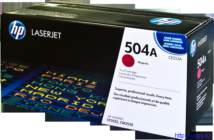HP CE253A Magenta Print Cartridge for Color LaserJet CM3530/fs/CP3525dn/n/x, up to 7000 pages.
