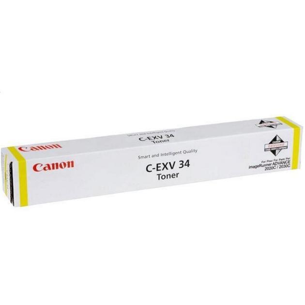 тонер CANON iR-ADV C2020/C2030 (C-EXV34) Y. ориг.