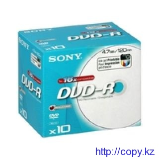 Диск DVD+R SONY printable  (4.7 Gb) slim, шт