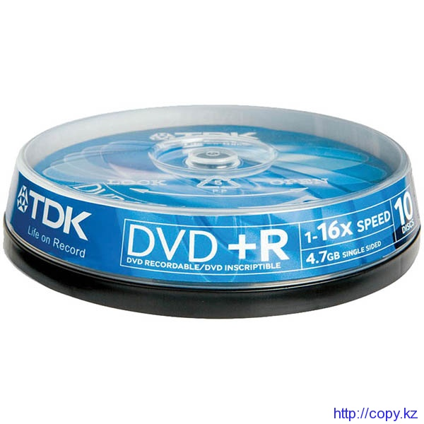 Диски DVD-R TDK (10 шт.) шпиндель