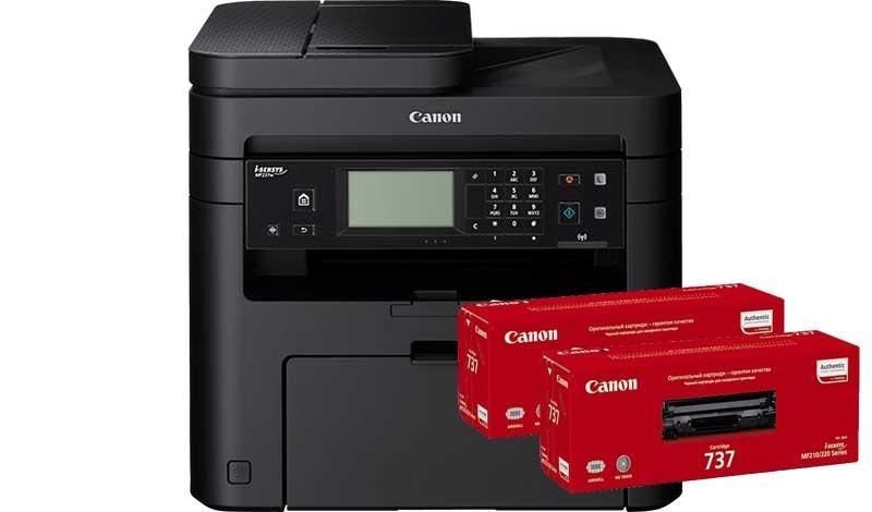 CANON i-SENSYS MF237w + 2 картриджа